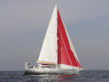 ALUMINIUM CUTTER 53' - Under sails