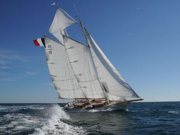 Goëlette Diva - Under sails
