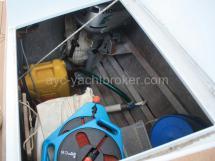 Portside cockpit locker