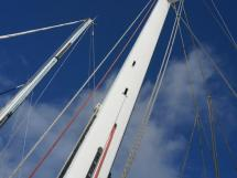 AYC Yachtbroker - JFA 45 Deck Saloon - White lacquered mast