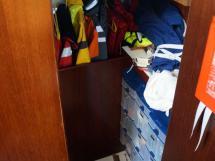 AYC Yachtbroker - JFA 45 Deck Saloon - Toilet and storage (port side)
