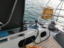 Garcia Nouanni 47 - Watch position under the companionway