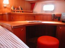 Nordia 65 - Desk in the aft owner's cabin