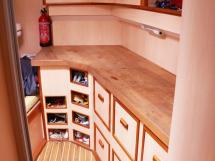 ELLYA 43 - Forward cabin: workshop on starboard