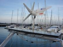 Alliage 45 - Aft arch/Wind generator and solar panels