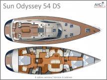 Sun Odyssey 54 DS Layout
