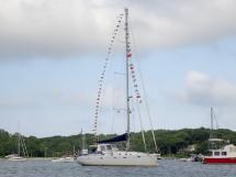 Universal Yachting 49.9 - Anchored