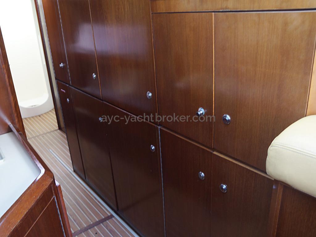 AYC Yachtbroker - JFA 45 Deck Saloon - Storage in the galley