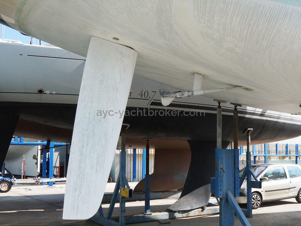 AYC Yachtbroker - GRAND SOLEIL 54 - rudder