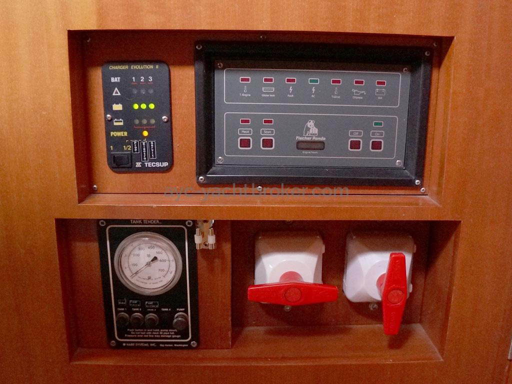 Alliage 44 - Gauges and genset control panel
