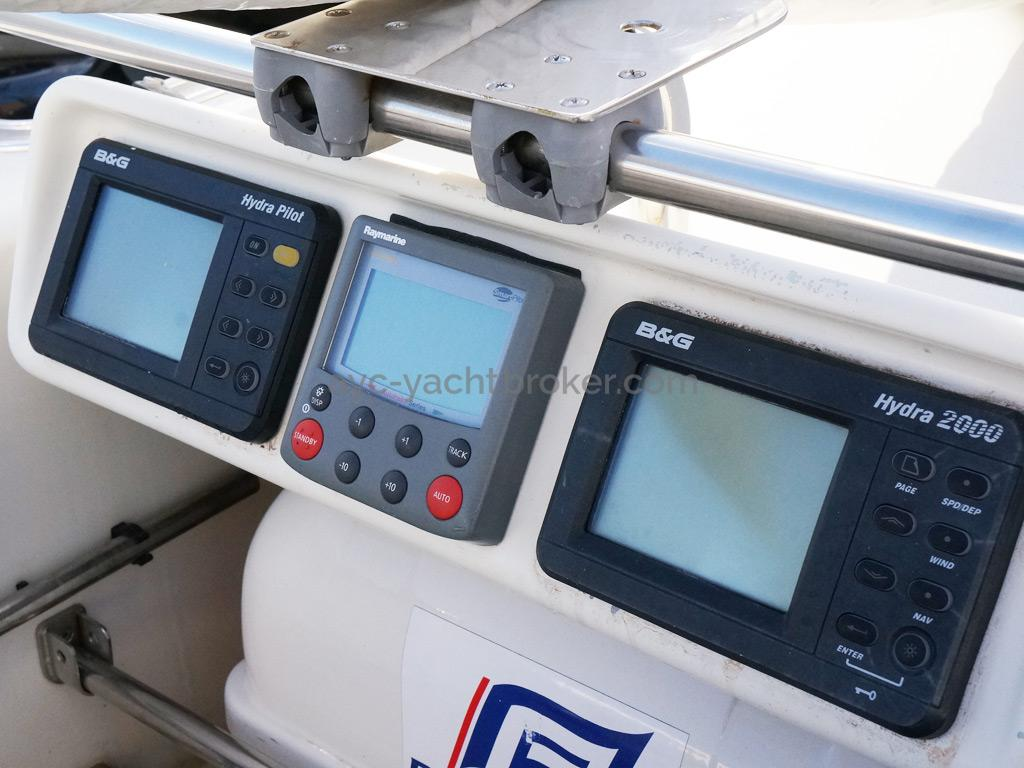 AYC Yachtbrokers - Tocade 50 - Pilot and display controls at the tiller