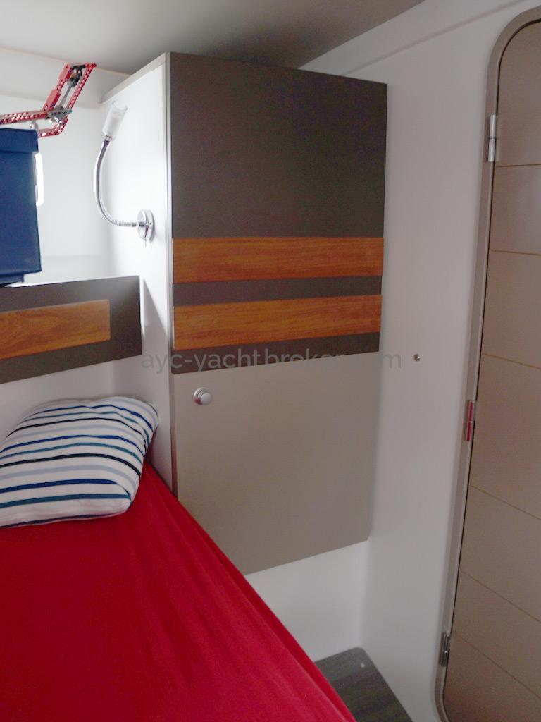 RM 1070 -Starboard locker in the forward cabin