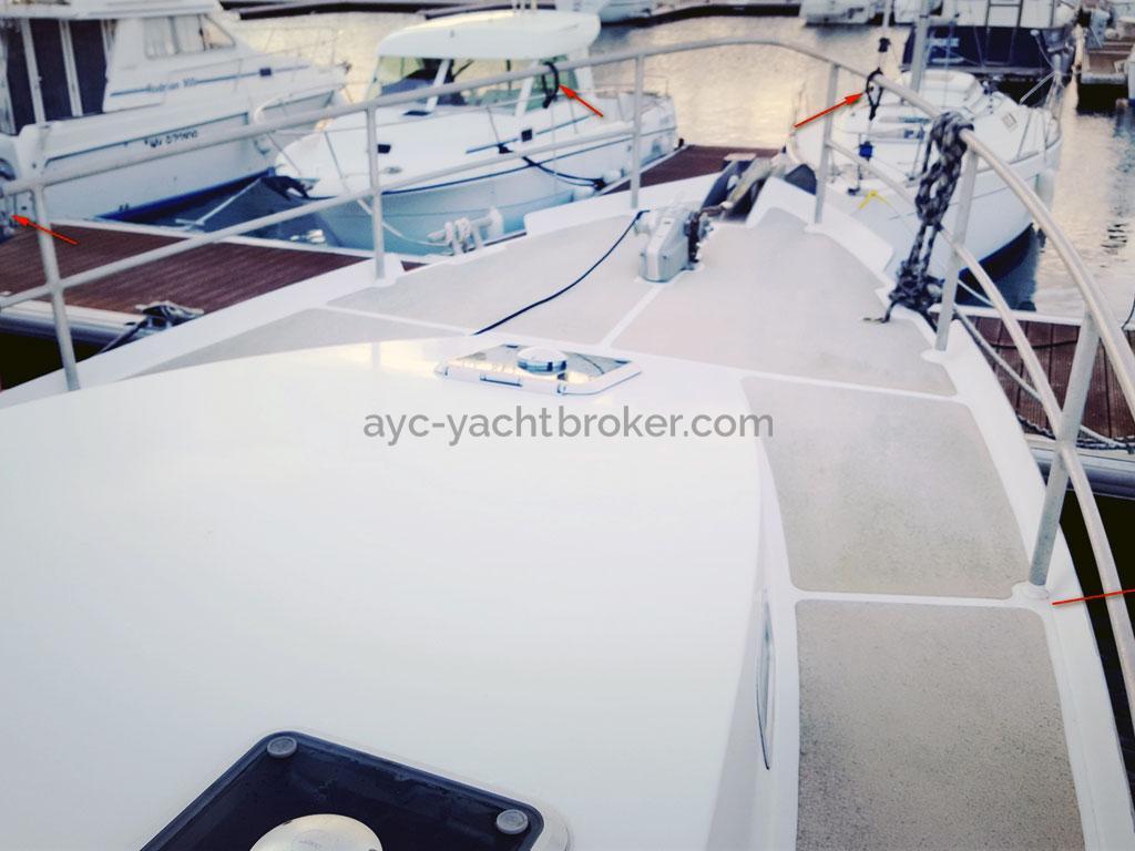 AYC Yachtbroker - Trawler Meta King Atlantique - Forward deck